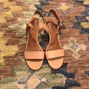 Lucky Brand Nude Sandal Heels